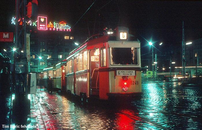 Az esti Móricz Zsigmond körtér 1976-ban