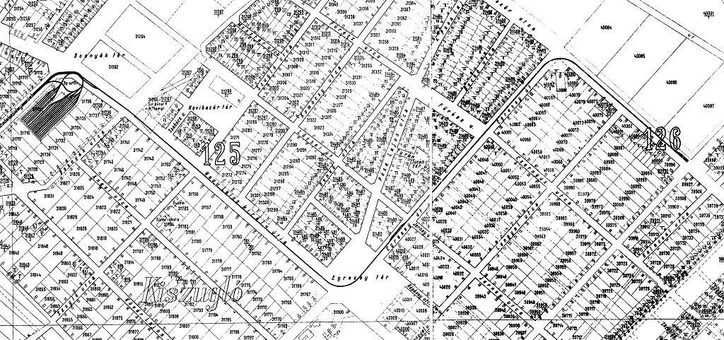 helyrajzi számos térkép Budapest elvesztett sínei   A 64 es villamos helyrajzi számos térkép