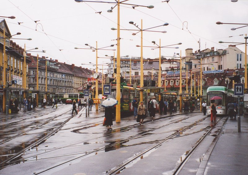 Trams Of Graz Austria