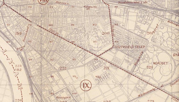 budapest térkép üllői út Budapest elvesztett sínei   Az Üllői úti villamosközlekedés budapest térkép üllői út
